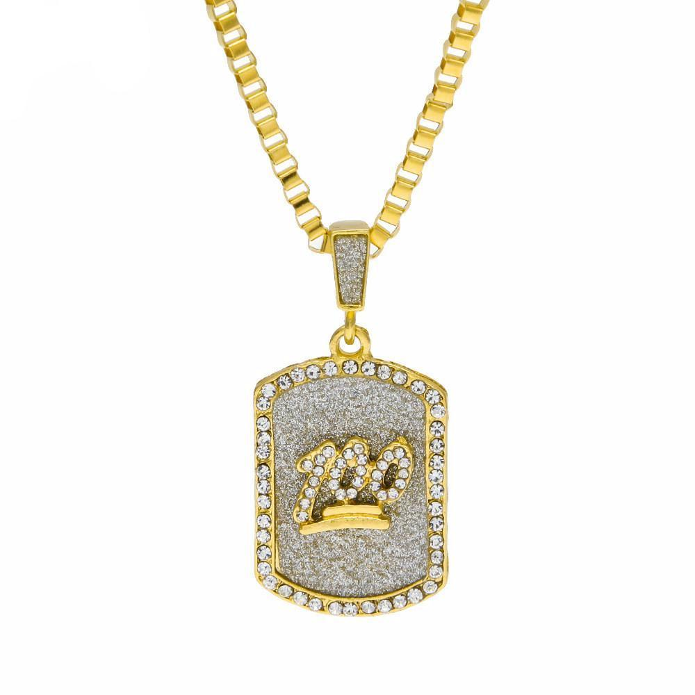100 iced out pendant coca