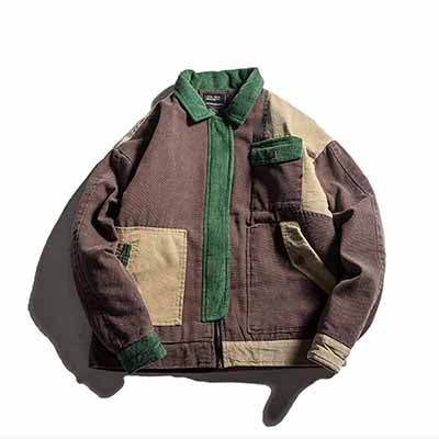 Heavy Duty Patchwork Corduroy Jacket - COCA