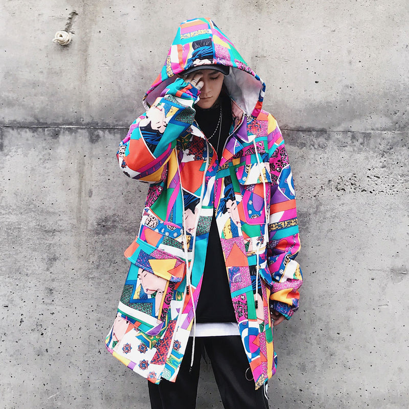 Downtown Fractals Hooded Jacket - COCA