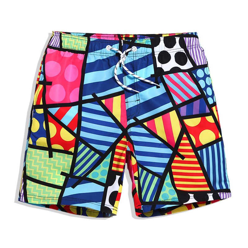 Abstract Relaxed Shorts - COCA