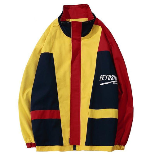 FUSED Patchwork Windbreaker - COCA