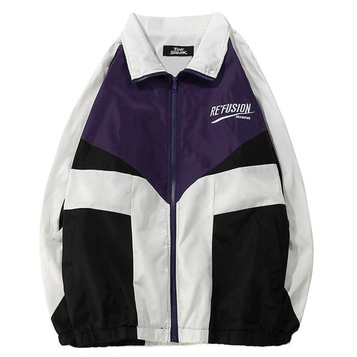 RETRO CRUISE Patchwork Windbreaker - COCA