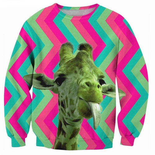 3D Giraffe Sweater - COCA