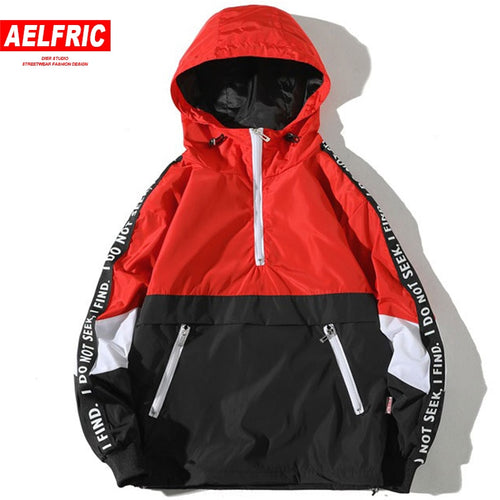 Patchwork Anorak Windbreaker