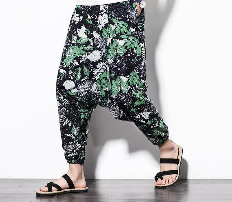 Spring Leaves Harem Pants
