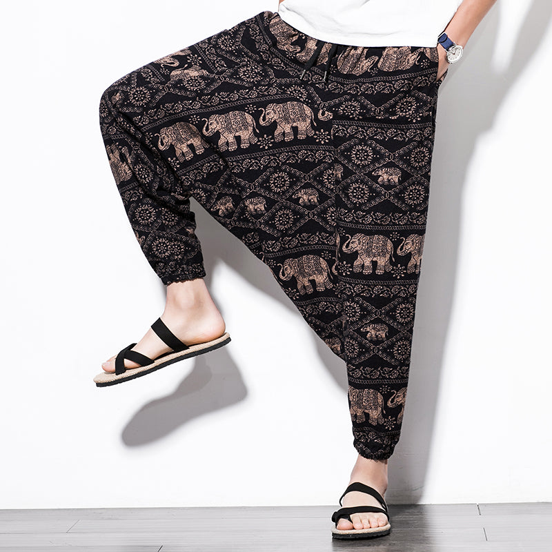 Elephant Journey Harem Pants - COCA