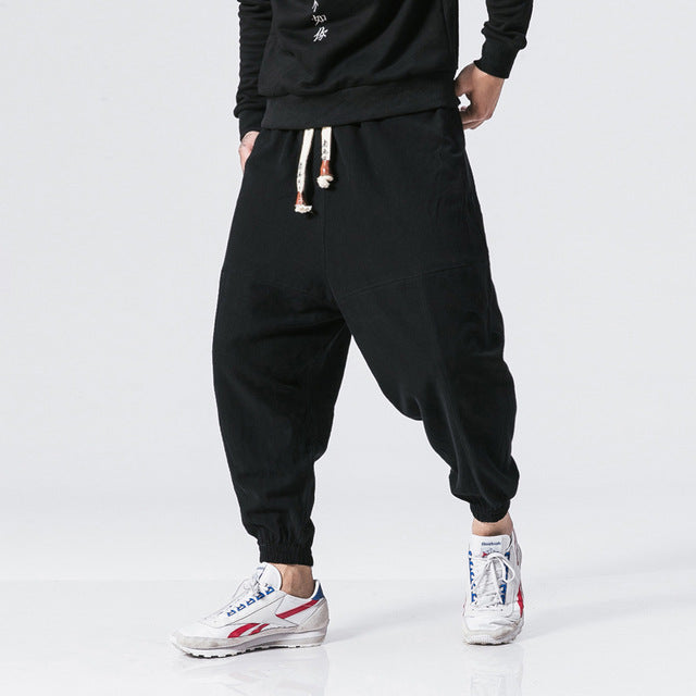 Casual Drawstring Harem Pants - COCA