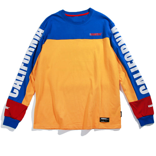 RETRO ERA Patchwork Sweater - COCA
