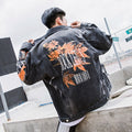 ROCK LEAF Ripped Denim Jacket - COCA
