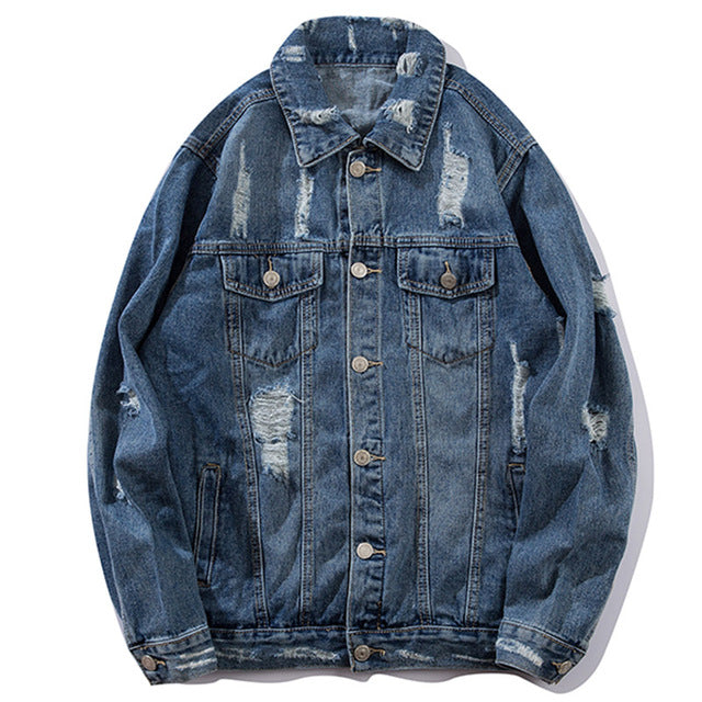PASSION Ripped Denim Jacket