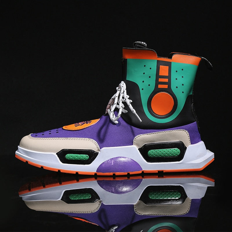 """Shaolin Galaxy"" Retro Sneakers - COCA"