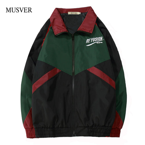 TRIBAL Patchwork Windbreaker