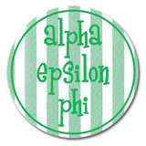 Round Bumper Sticker Alpha Epsilon Phi - Alexandra and Company