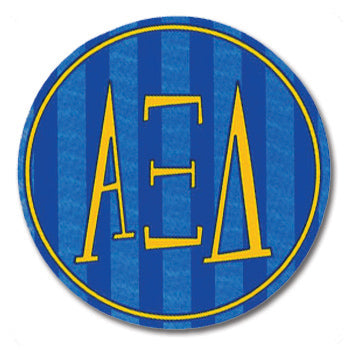 Round Bumper Sticker Alpha Xi Delta - Alexandra and Company