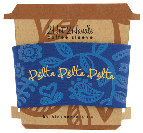 Coffee Sleeve Delta Delta Delta - Alexandra and Company