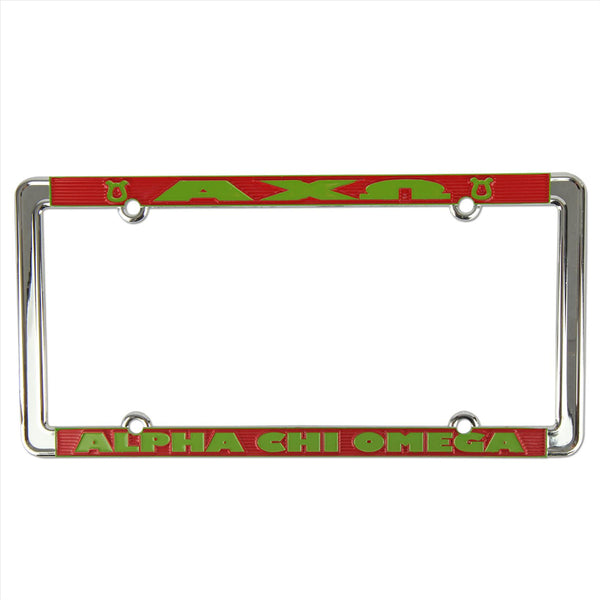 License Plate Frame Alpha Chi Omega - Alexandra and Company
