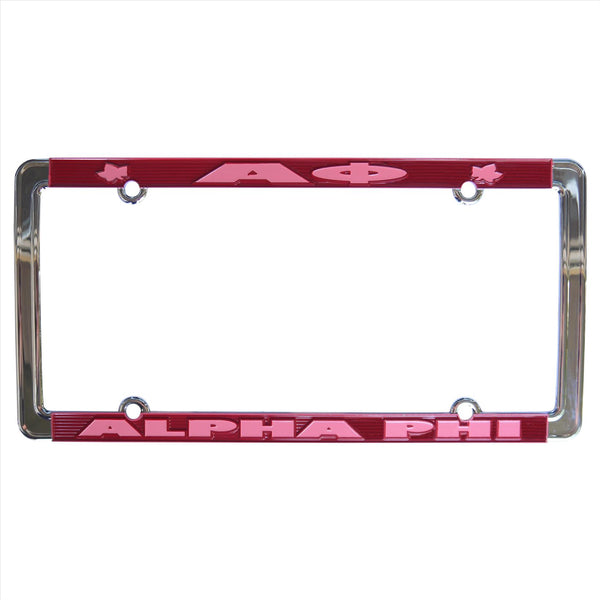 License Plate Frame Alpha Phi - Alexandra and Company