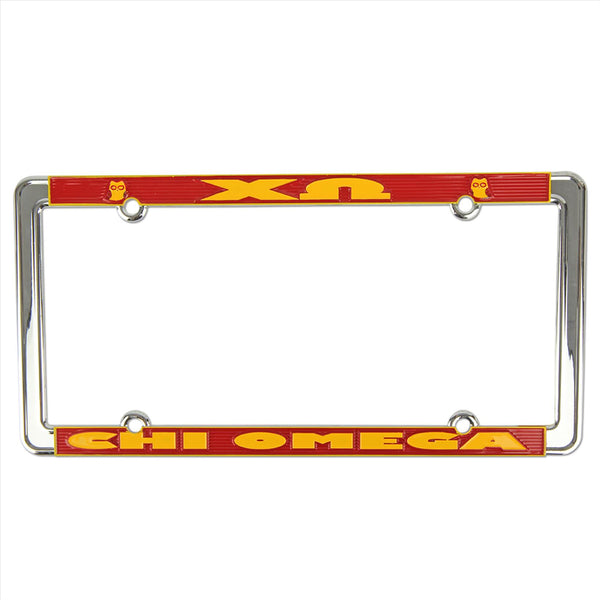 License Plate Frame Chi Omega - Alexandra and Company
