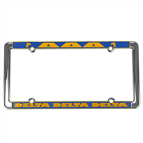 License Plate Frame Delta Delta Delta - Alexandra and Company