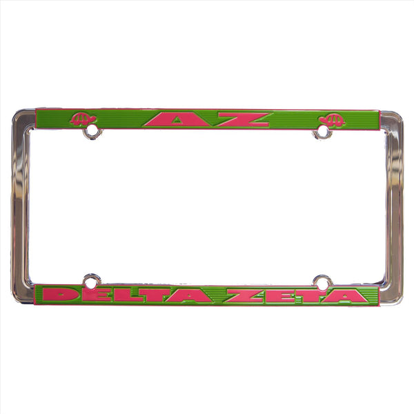 License Plate Frame Delta Zeta - Alexandra and Company