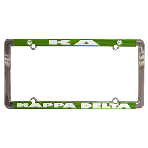 License Plate Frame Kappa Delta - Alexandra and Company