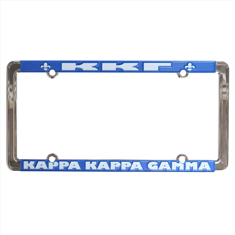 License Plate Frame Kappa Kappa Gamma - Alexandra and Company