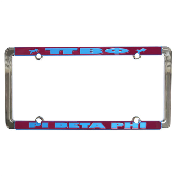 License Plate Frame Pi Beta Phi - Alexandra and Company