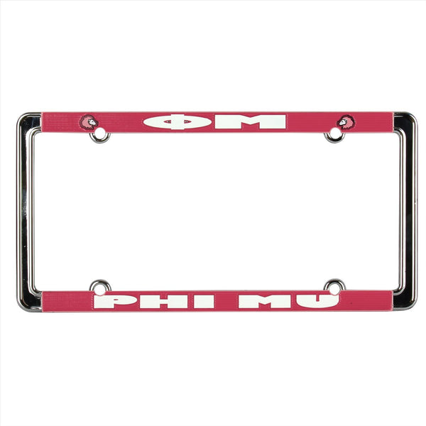 License Plate Frame Phi Mu - Alexandra and Company