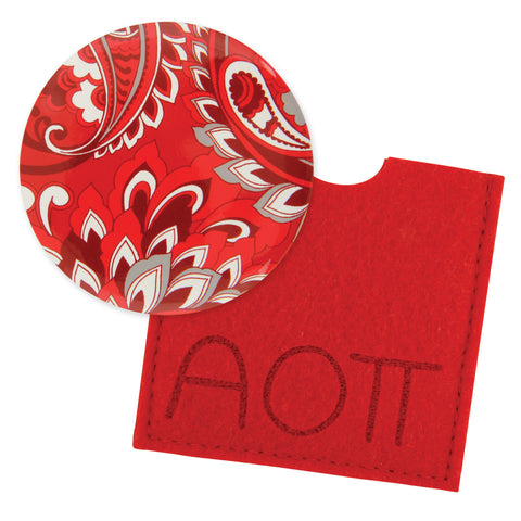 Button Mirror Alpha Omicron Pi - Alexandra and Company