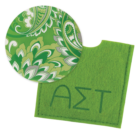Button Mirror Alpha Sigma Tau - Alexandra and Company
