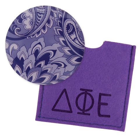 Button Mirror Delta Phi Epsilon - Alexandra and Company