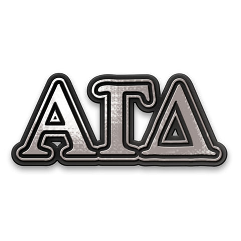 Chrome Car Emblem Alpha Gamma Delta - Alexandra and Company