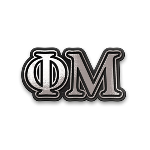 Chrome Car Emblem Phi Mu - Alexandra and Company
