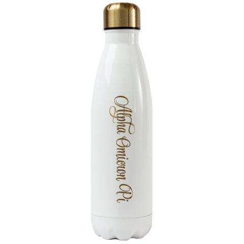 Ss Water Bottle Alpha Omicron Pi
