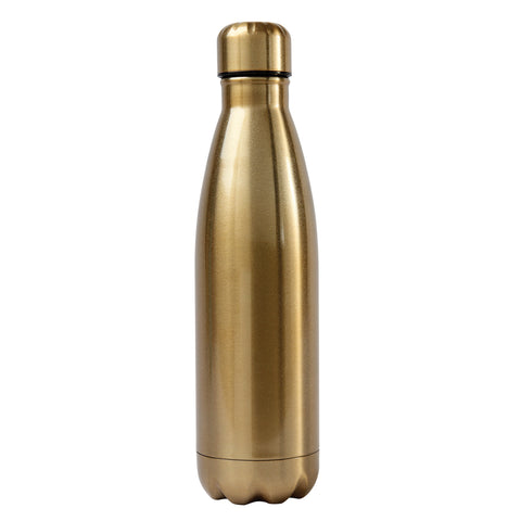 Ss Water Bottle Gold - Alexandra and Company