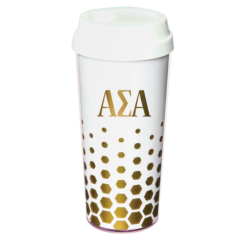 Coffee Tumbler Alpha Sigma Alpha - Alexandra and Company