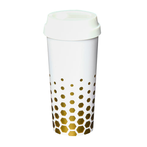 Coffee Tumbler  White - Alexandra and Company