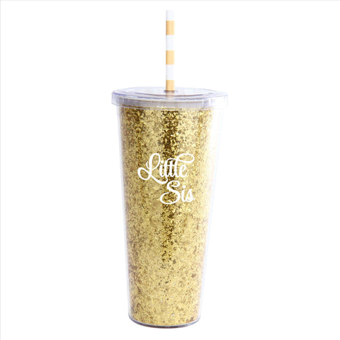 Glitter Tumbler Little Sis - Alexandra and Company