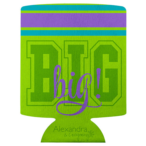 Koozie Big Sis Green - Alexandra and Company
