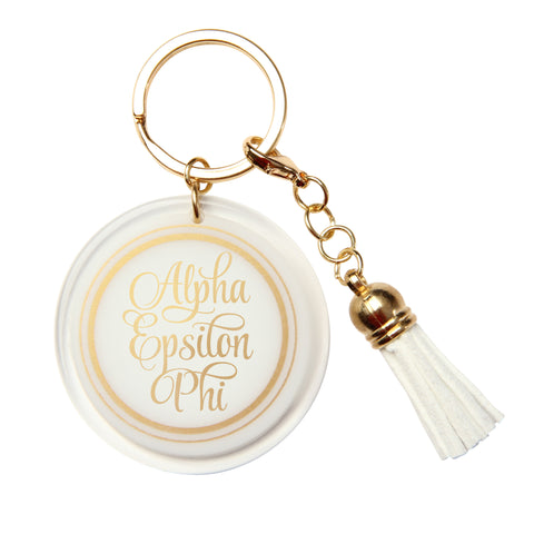 Acrylic Key Chain Alpha Epsilon Phi - Alexandra and Company