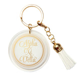Acrylic Key Chain Alpha Xi Delta - Alexandra and Company