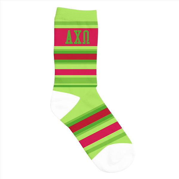 Crew Socks Alpha Chi Omega - Alexandra and Company