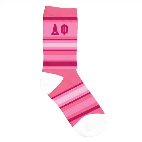 Crew Socks Alpha Phi - Alexandra and Company