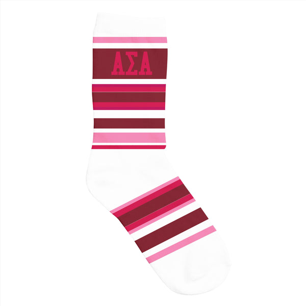 Crew Socks Alpha Sigma Alpha - Alexandra and Company