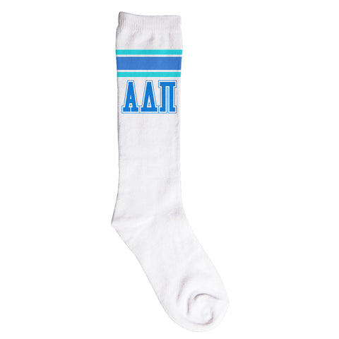 Knee High Socks Alpha Delta Pi - Alexandra and Company