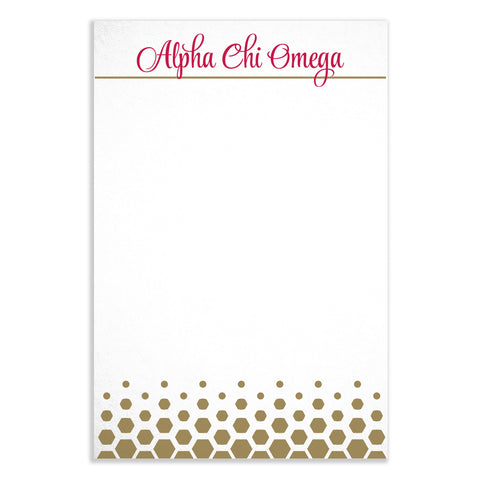 Notepad Alpha Chi Omega - Alexandra and Company