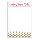 Notepad Alpha Gamma Delta - Alexandra and Company