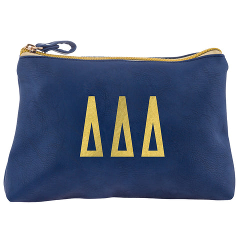 Cosmetic Bag  Delta Delta Delta - Alexandra and Company