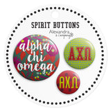 Buttons  Alpha Chi Omega - Alexandra and Company