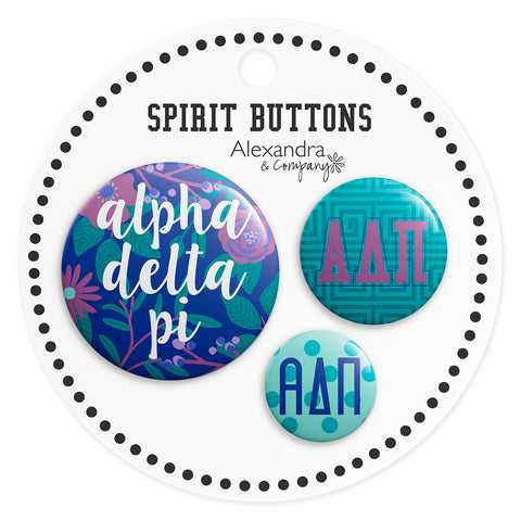 Buttons  Alpha Delta Pi - Alexandra and Company